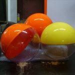 Сферы из пластика - 100 - abs - net - chernyj-belyj