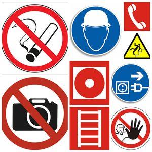 Запрещающие и предупреждющие таблички и знаки